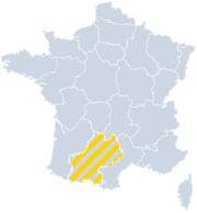 Vakantiehuizen Midi-Pyrénées - Occitanie op de kaart