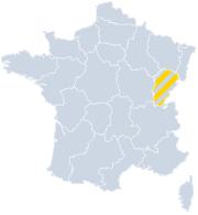 Vakantiehuizen Franche-Comté op de kaart