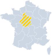 Vakantiehuizen Centre - Val de Loire op de kaart