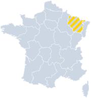 Vakantiehuizen Lorraine - Grand-Est op de kaart