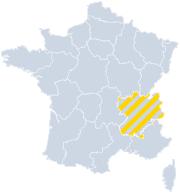 Vakantiehuizen Rhône-Alpes op de kaart