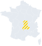 Holiday homes Auvergne on the map