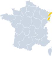 Gites Alsace sur la carte