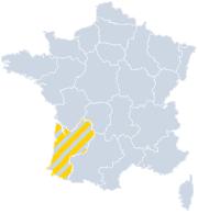 Gites Aquitaine sur la carte