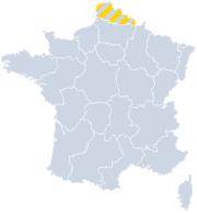 Vakantiehuizen Nord-Pas-de-Calais - Hauts-de-France op de kaart