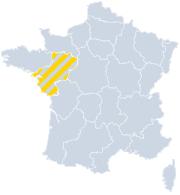 Vakantiehuizen Pays de la Loire op de kaart