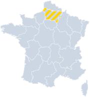 Vakantiehuizen Picardie - Hauts de France op de kaart