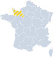 Gites Normandie sur la carte