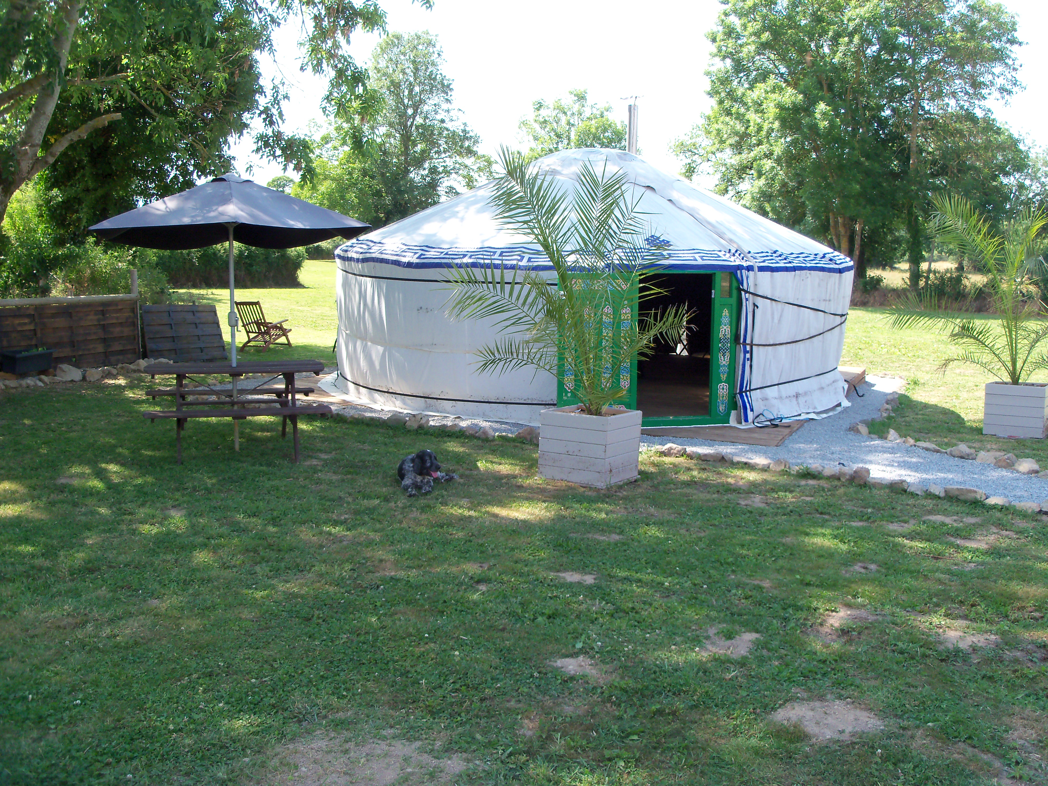 view holiday home chez paille yurts in creuse limousin gites eu